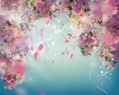 Blooms borne aloft